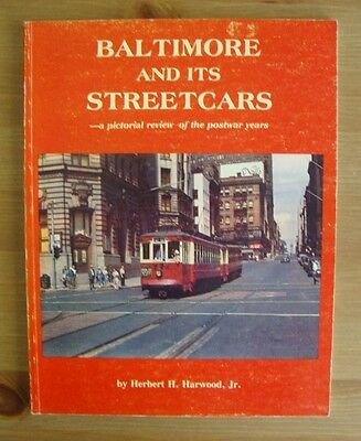 old BALTIMORE STREETCAR PHOTO BOOK trolley maryland