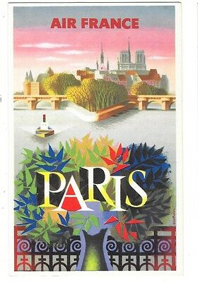 AIR FRANCE carte postale publicitaire PARIS Nathan