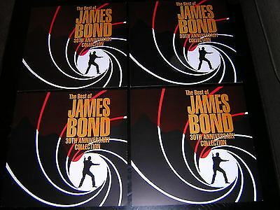 "4 James Bond Promotional 12"" X 12"" Cards - 30Th Anniversary"