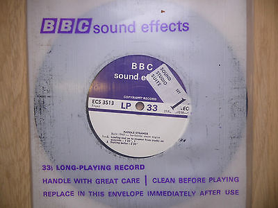 "BBC Sound Effects 7"" Record - Paddle Steamer with Horizontal Steam Engine, 1940"