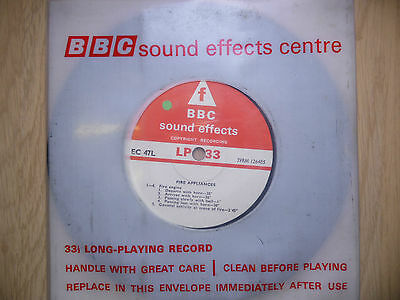 "BBC Sound Effects 7"" Record - Fire Appliances, Engine Scene of Fire, Horn, EC47L"
