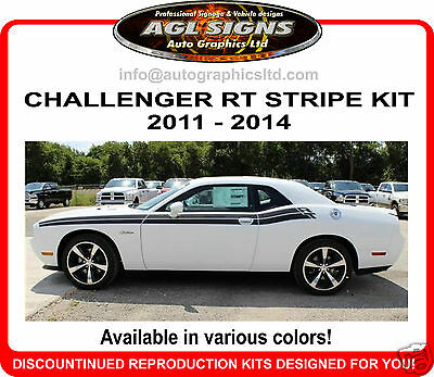 DODGE CHALLENGER  RT STRIPE, GRAPHIC  2011 2012 2013 2014  R/T reproduction