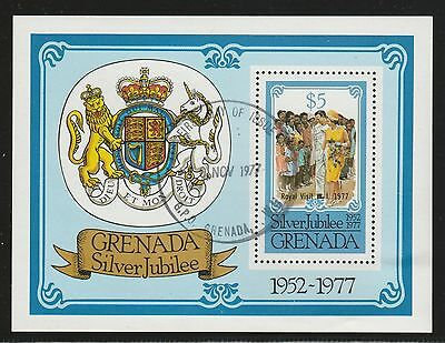 Grenada 1977 Silver Jubilee Royal Visit Mini Sheet SG MS862 FU