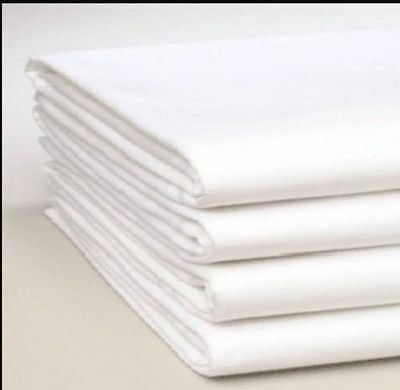 KINGSIZE FLAT SHEET, WHITE, Ex Hotel, Defect. Suitable for craft, quilt material