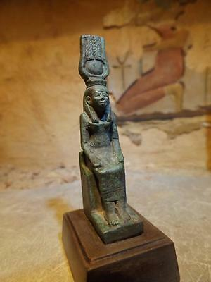 Egyptian statue - Isis - Great mother goddess of magic. Petite seated figure.