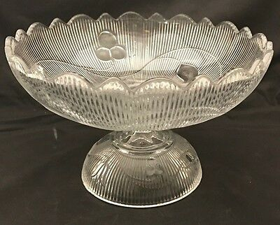 Bellflower Flint Glass Footed Compote EAPG New England Glass Co