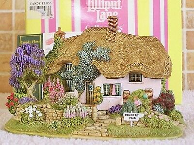 Lilliput Lane .. CANDY FLOSS .. Affpuddle - Dorset .. COLLECTOR CLUB - EXCLUSIVE