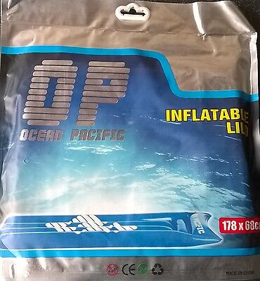 OCEAN PACIFIC inflatable lilo air mattress air bed BRAND NEW WOW retail stock!
