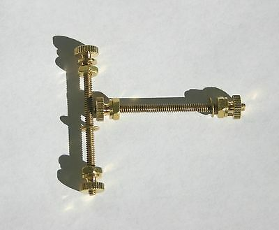 "2 Duel Brass Binding posts for 1 1/2"" thick mounting With small spade or wire"