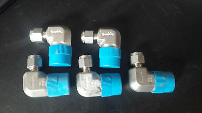 Lot 5 Swagelok 316SS SS-400-2-8 - 1/4 x1/2 MNPT Elbows, NEW Stainless Steel