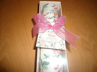 new  gift box of 5 rose scented    drawer liners