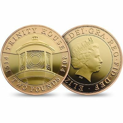 2014 500th Anniversary of Trinity House Proof Gold £2 - Number 267 of 300 Minted