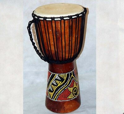 Djembe Drum Percussion Plus Painted Wood Djembe 10 inch