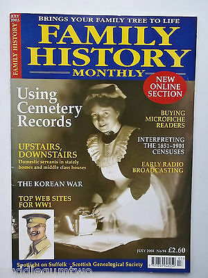 Family History Monthly Domestic Servants Korean War Early Radio Broadcasting