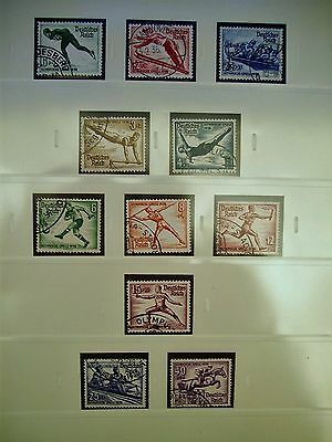 Germany Reich Both Olympic Sets Very Fine Used Cat £39.50 !!!