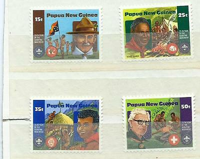 Papua and New Guinea 1982 4V Year of The Scout MNH