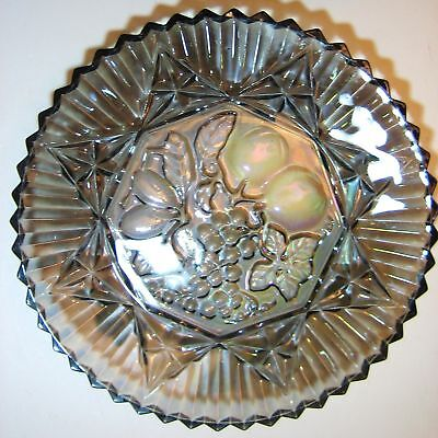 Federal Carnival Glass Iridescent Smoke Pioneer Plate