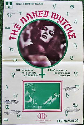 NAKED WYTCHE Fairy Tale Sexploitation 1970 Adult MOVIE PRESSBOOK Rated X Witch