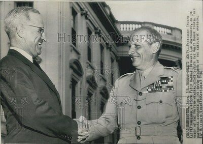 1946 Press Photo President Harry S. Truman & Field Marshal Bernard Montgomery