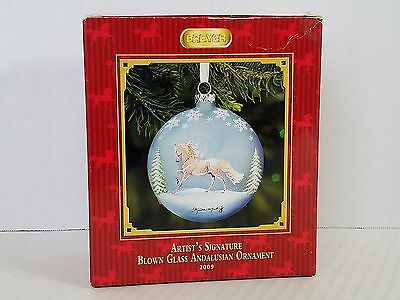 Breyer Artist Signature Blown Glass Andalusian Ornament Kathleen Moody 2009