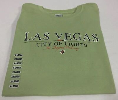 Las Vegas Tee Shirt City Of Lights Far Beyond The Ordinary XL Green T Shirt New