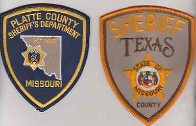 Platte & Texas County MO Sheriff patches