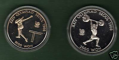 Korea 1988  Olympic  Proof  Weight Lifting Table Tennis