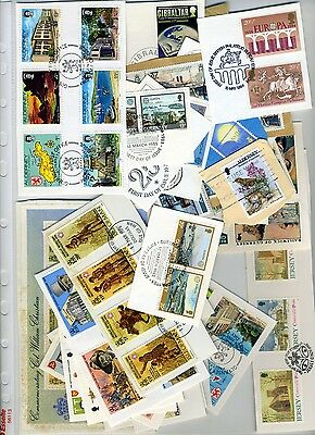 Jersey/Guernsey/IOM lot of 1970-80's stamps on paper with superb postmarks