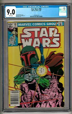 """Star Wars #68 (1983) CGC 9.0 White Pages   Michelinie - Day   """"Boba Fett"""" Cover"""