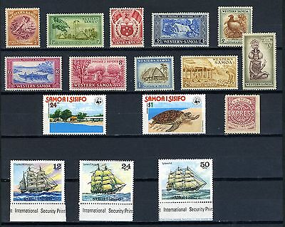 Samoa (Western) Stamps from 1930's to 1980's good mint group