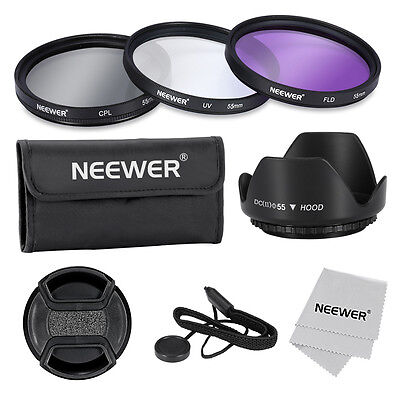Neewer 55mm Professional Lens Filter Accessory Kit for Canon Nikon