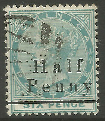 Dominica   Qv   Sg17 1/2D On 6D Green  Fine Used