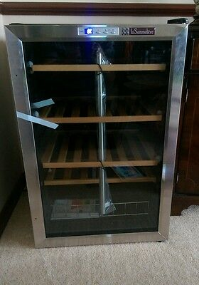 La Sommeliere LS48B Wine Cellar with 48B Compressor and Stainless Steel Frame