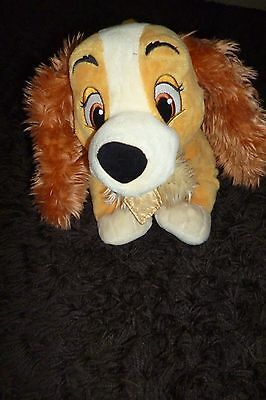 The Disney Store Lady and the Tramp 'Lady' Plush Soft Teddy Toy