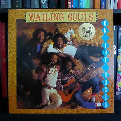 WAILING SOULS On The Rocks POSTER GREENSLEEVES UK 1st Press A1/B1 LP MINT