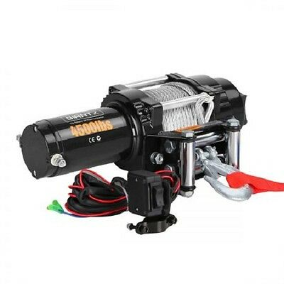 NEW 4500lbs 1.5KW Electric Winch ATV 4WD Steel Wire with Wireless Remote Control