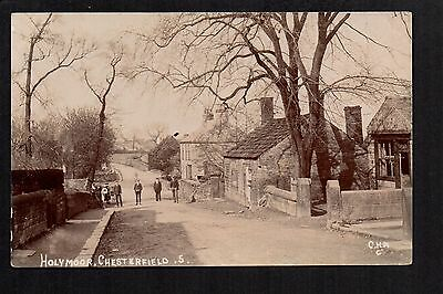 Holymoorside, Chesterfield - real photographic postcard