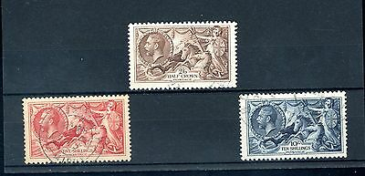 Great Britain 1934  Seahorse Set of 3  SG 450/2  very fine used  (J1080)
