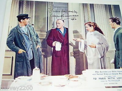 """ALEC GUINNESS...""""Star Wars"""" +.(FILM)...HAND SIGNED AUTOGRAPH ON PHOTOGRAPH..1982"""