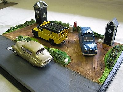 AA RAC diorama 1/43rd scale display - Model Garages see additional photos!!