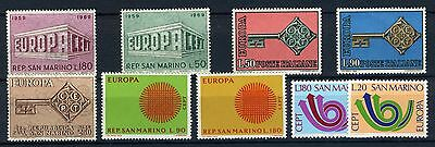 San Marino-1960-70's group of Europa stamps MNH