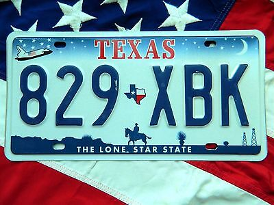 TEXAS license licence plate plates USA NUMBER AMERICAN REGISTRATION