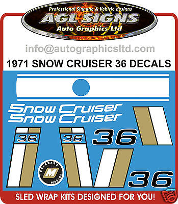1971 Snow Cruiser Decals 36 ,  reproductions graphics