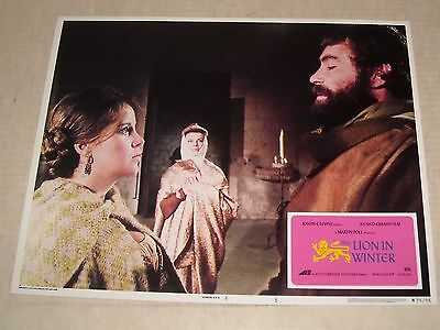 Avco Emb 1975 The LION in WINTER Re Release MOVIE LOBBY CARD 5 KATHERINE HEPBURN