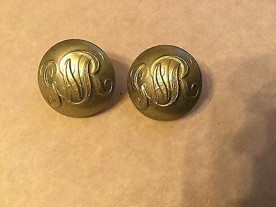 Great Northern Railway Pair Large Gilt Buttons