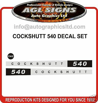 COCKSHUTT 540 TRACTOR DECAL SET, reprocduction