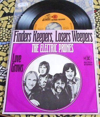 rare Beat+Rock-45´s - ELECTRIC PRUNES - Finders Keepers, Losers Weepers  D-repri