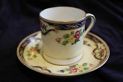 Lovely Vintage Tuscan China Duo Flowers and Blue/Gilt Banding