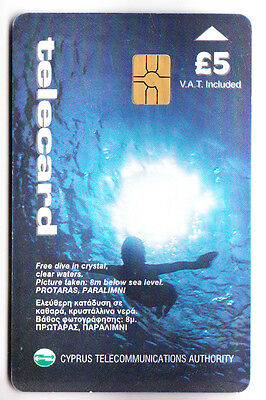 Europe  Telecarte / Phonecard .. Ile Chypre 5£ Plongee Diving 06/99 Chip/puce