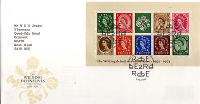 Gb  2001 Wildings 1 Sheet Definitive Fdc Illustrated